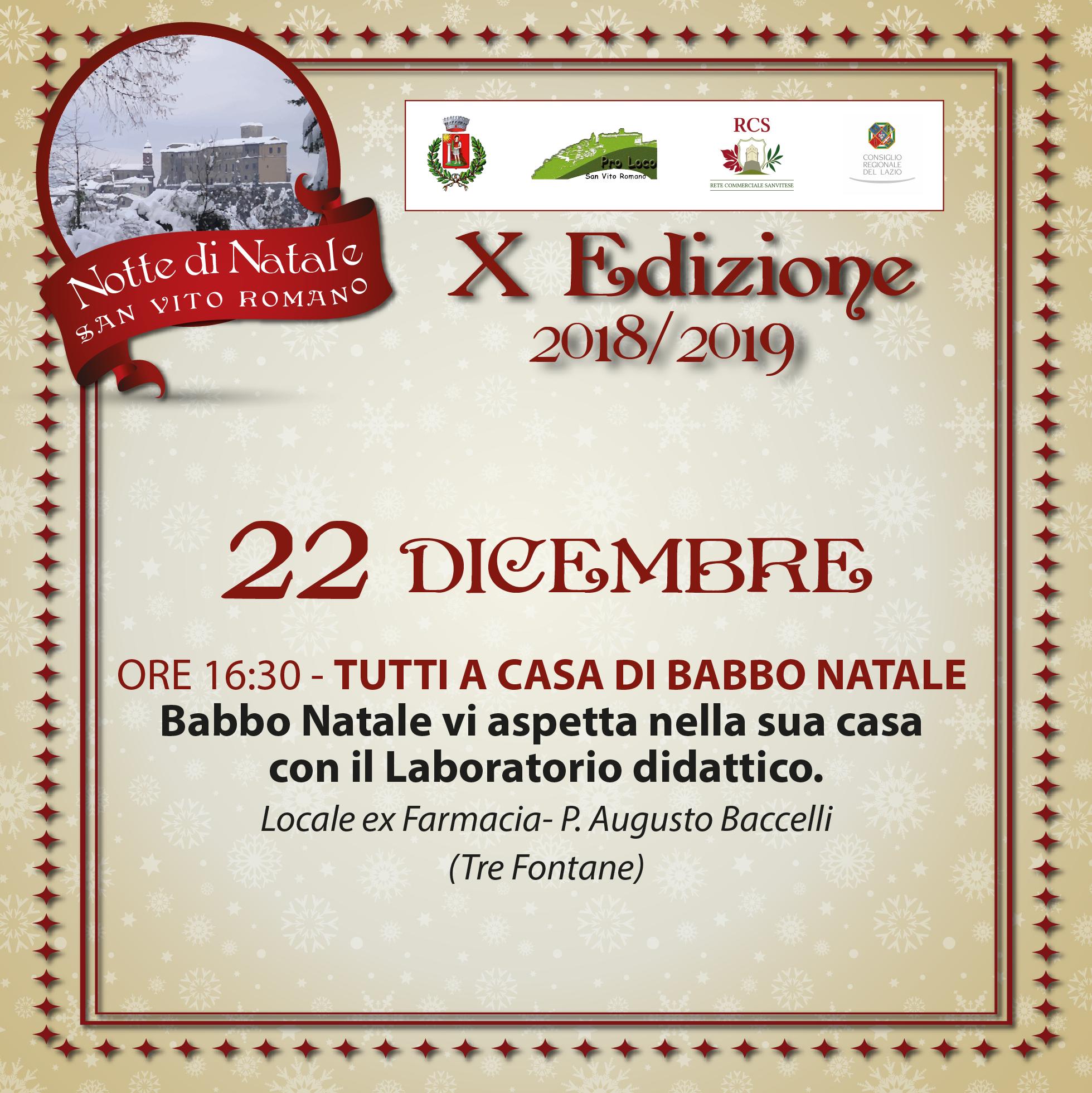 Babbo Natale Whatsapp.22 Dicembre Tutti A Casa Di Babbo Natale Comune Di San Vito Romano